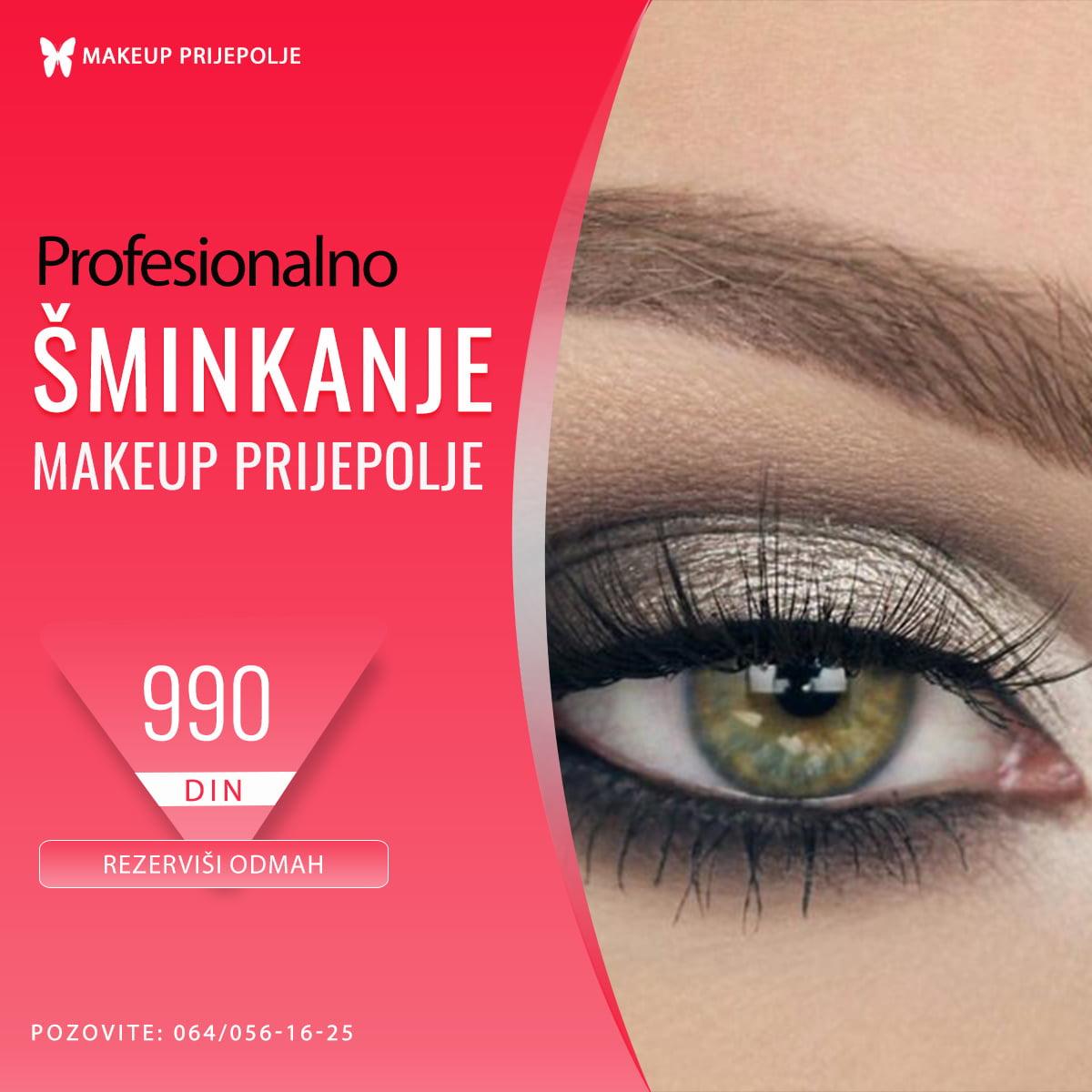 Sminkanje Prijepolje - Makeup Prijepolje