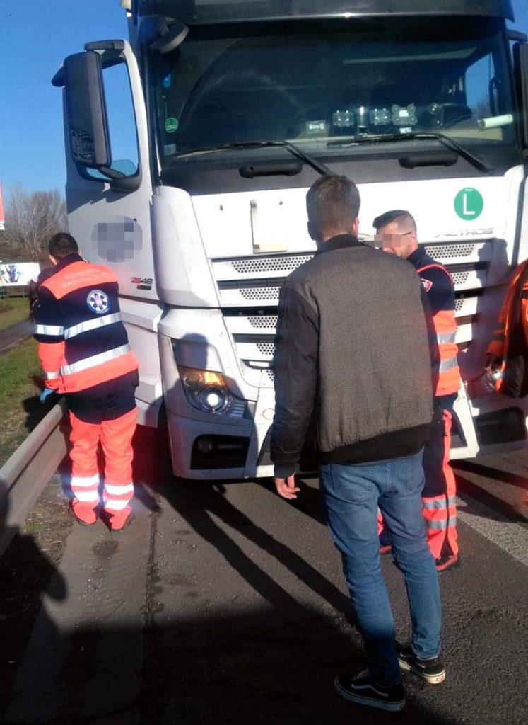 Saobraćajna nesreća, Bratislava, vozač kamiona
